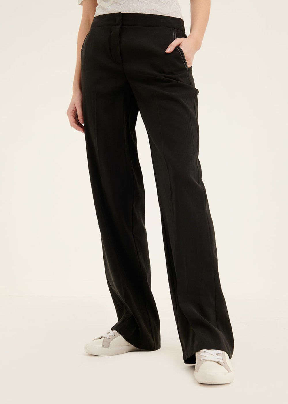 Pantalone Paride mano di pesca - Black - Donna