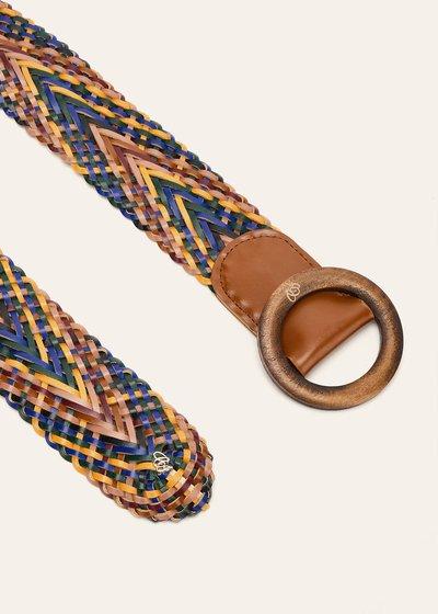 Cintura Cecyl intrecciata multicolor