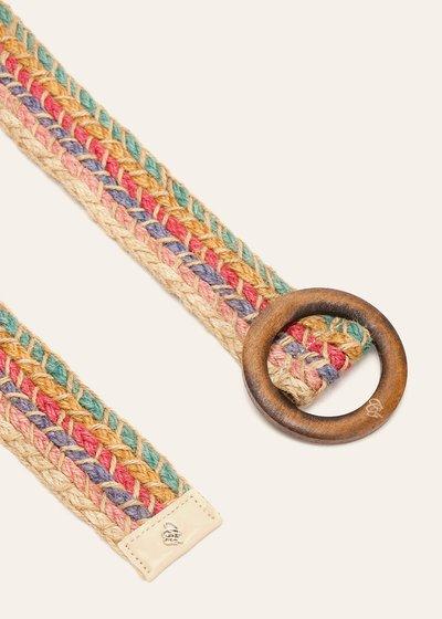Cintura Casy intrecciata in lino