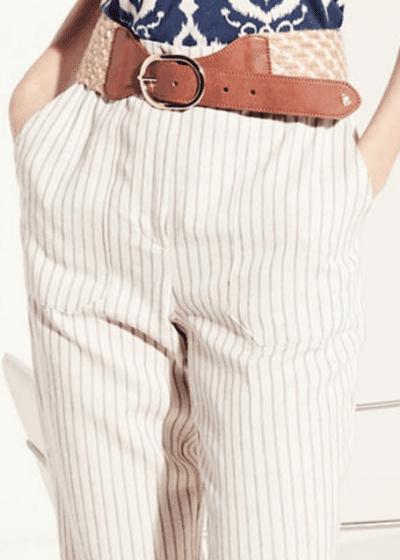 Carie raffia belt