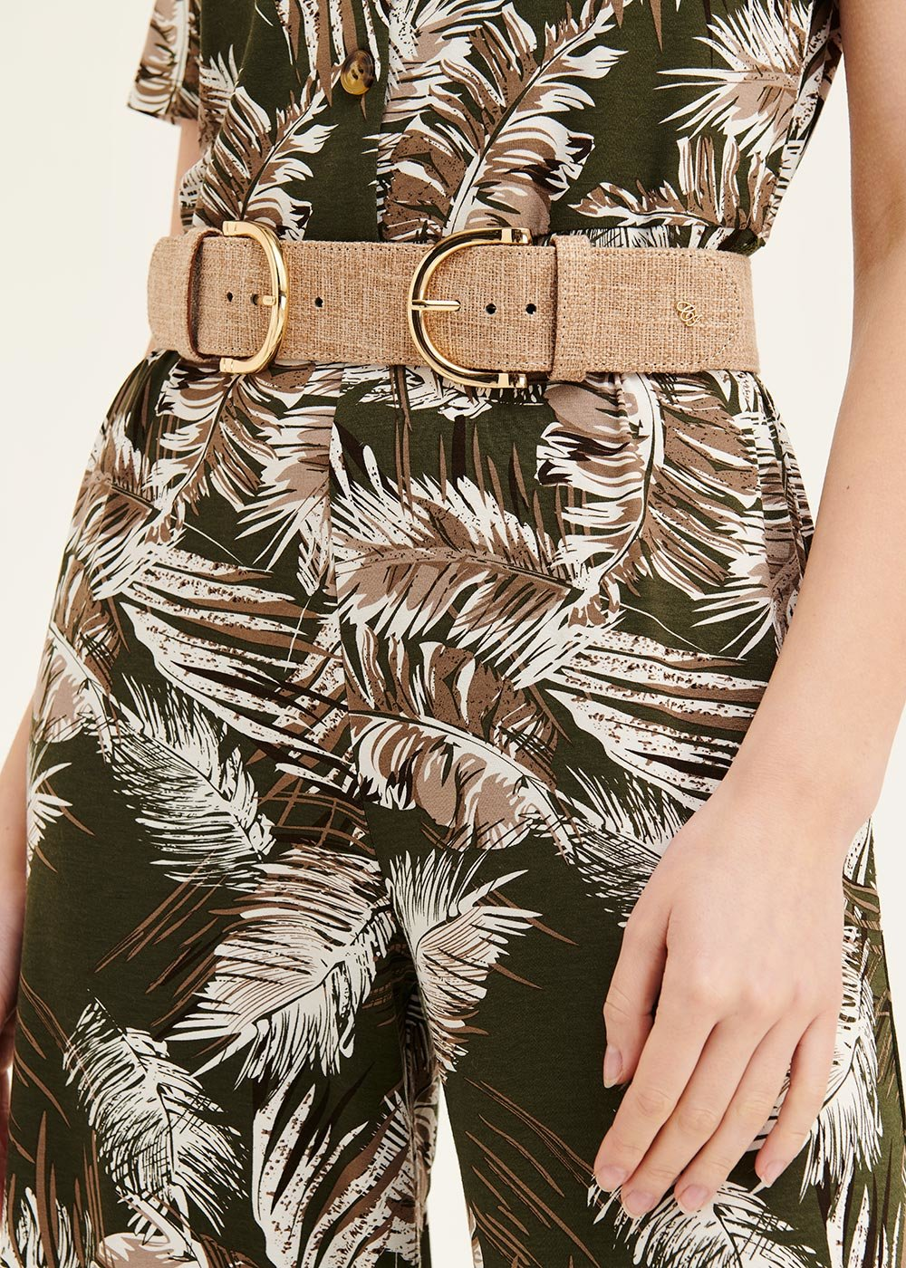 Caryn belt with double buckle - Camel - Woman
