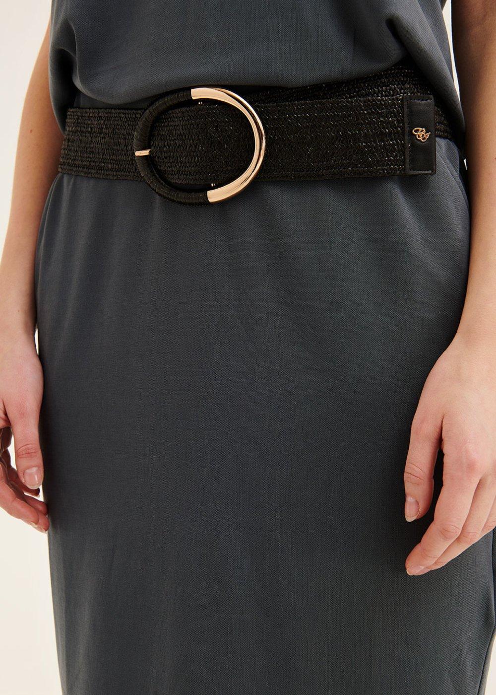 Cintura Cris elastica - Black - Donna
