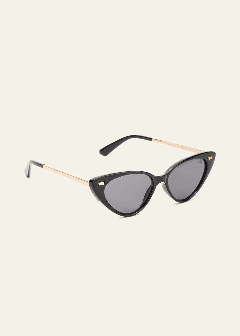 Cat-eye sunglasses - Black - Woman