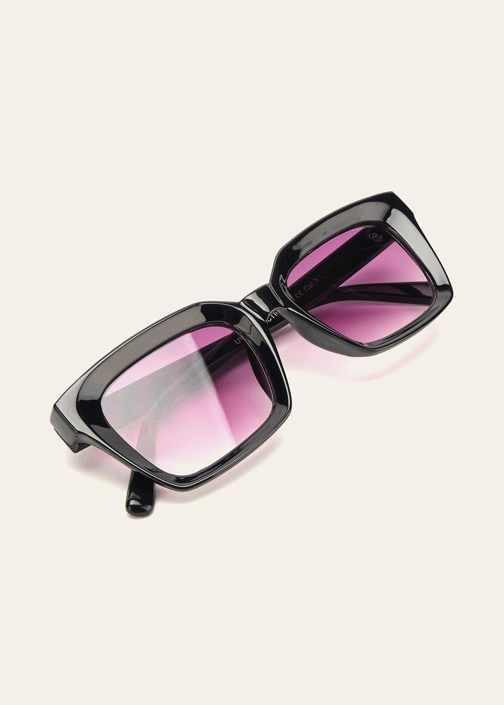 Occhiali da sole con montatura trasparente - Black - Donna