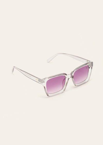 Occhiali da sole con montatura trasparente