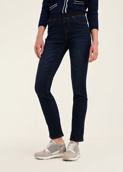 Damian denims with matching elastic band