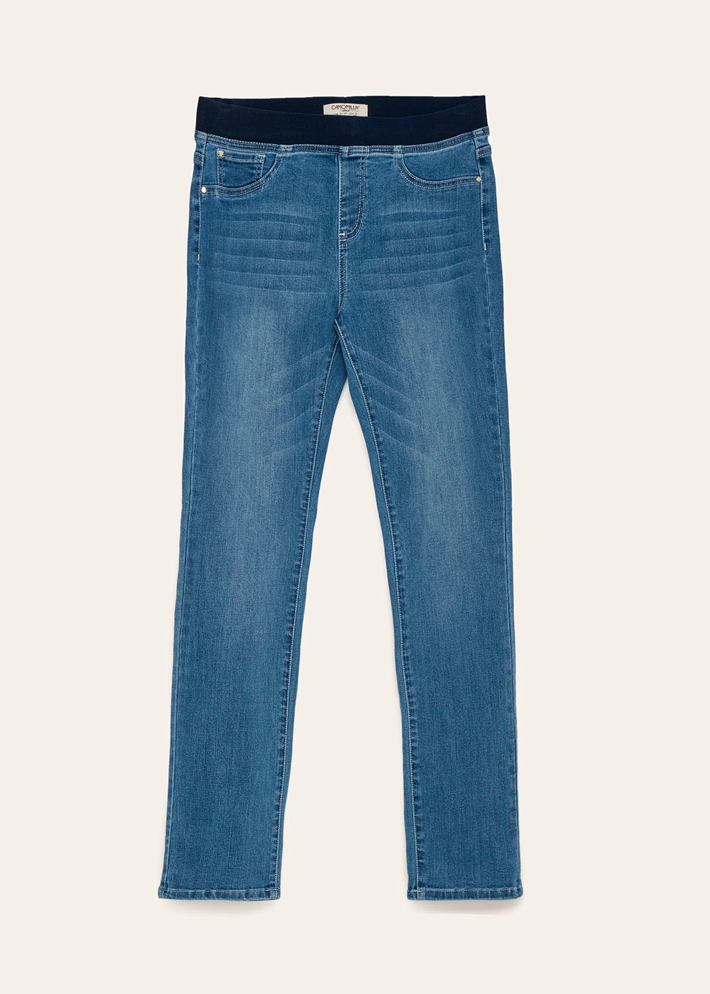 Damian denims with matching elastic band - Light Blue - Woman