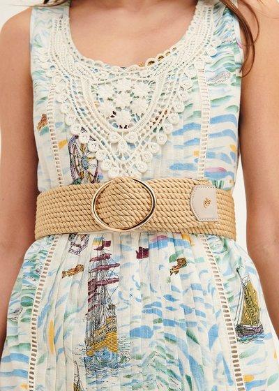Cintura Carlys in corda con fibbia rotonda