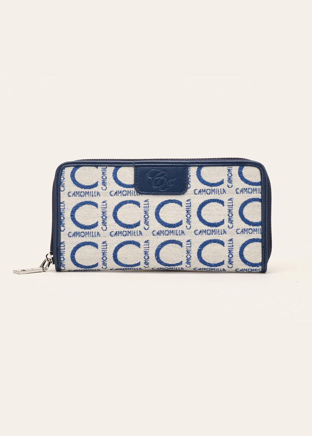Penny logomania wallet - Avion / White - Woman