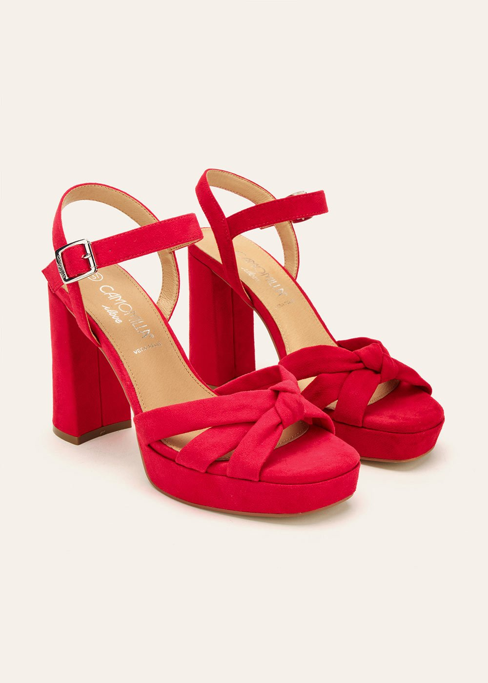 Syra sandal with ankle strap - Cherry Red - Woman