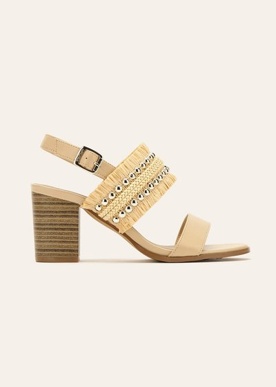 Sael sandals with raffia band