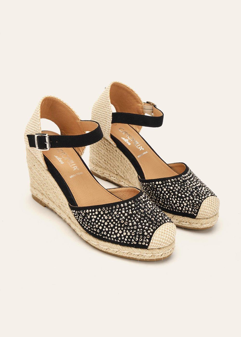 Sheyen espadrille-model sandal - Black - Woman