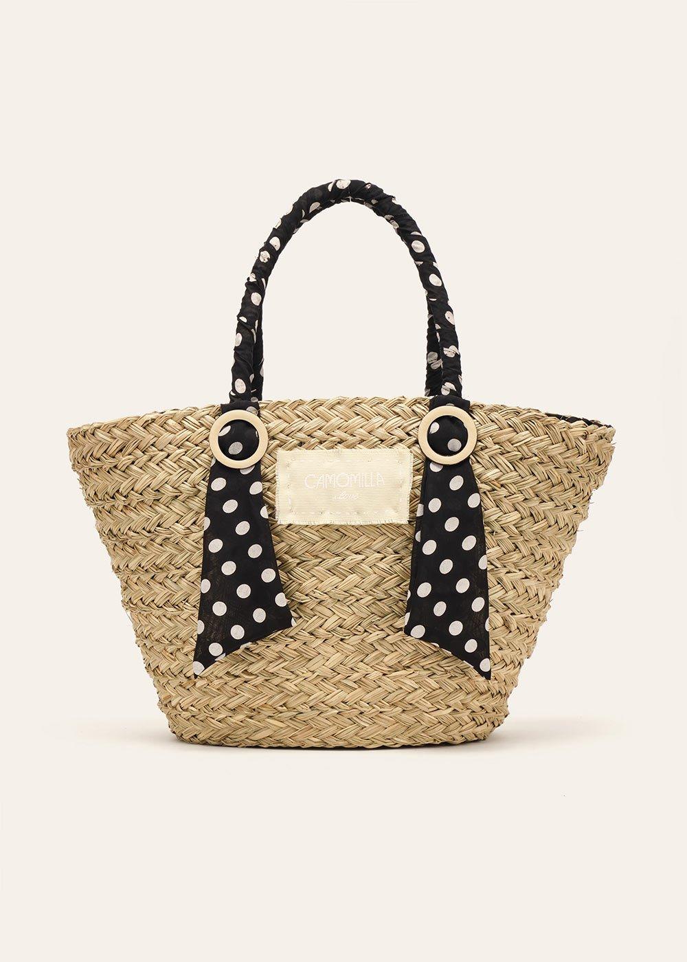 Barny bag with polka dot details - Black / White Pois - Woman