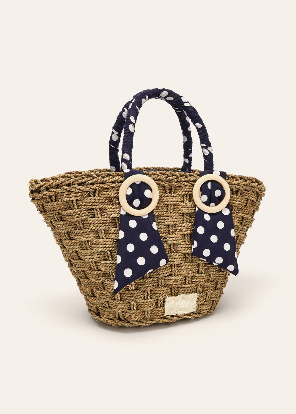 Bernie bag with polka dot details - Blue  / Whitepois - Woman