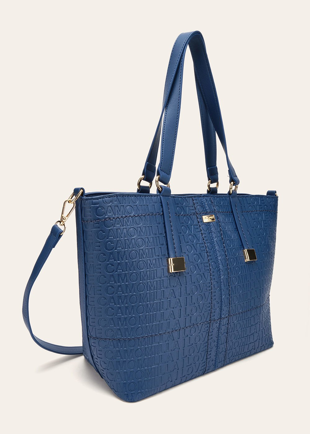 Berry logomania shopping bag - Ultramarine - Woman