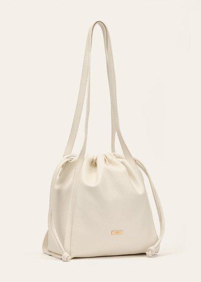 Baby bucket bag with drawstring closure