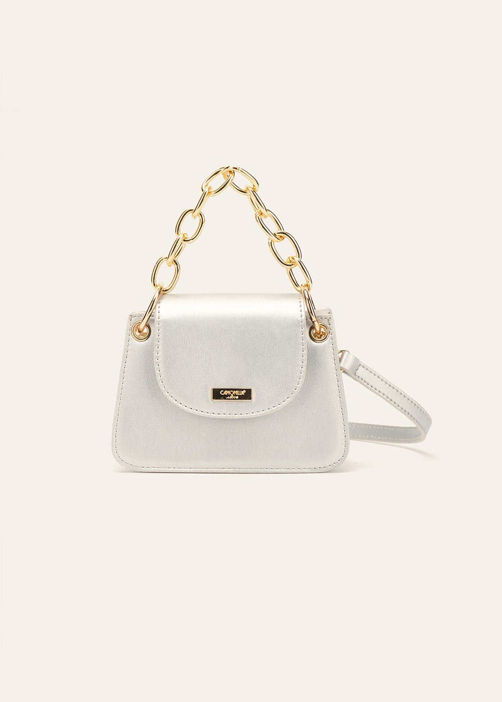Bret clutch bag with chain - Silver - Woman
