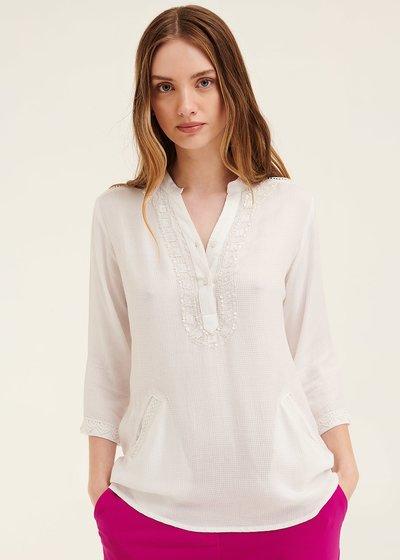 Camicia Catrin con ricamo di perline
