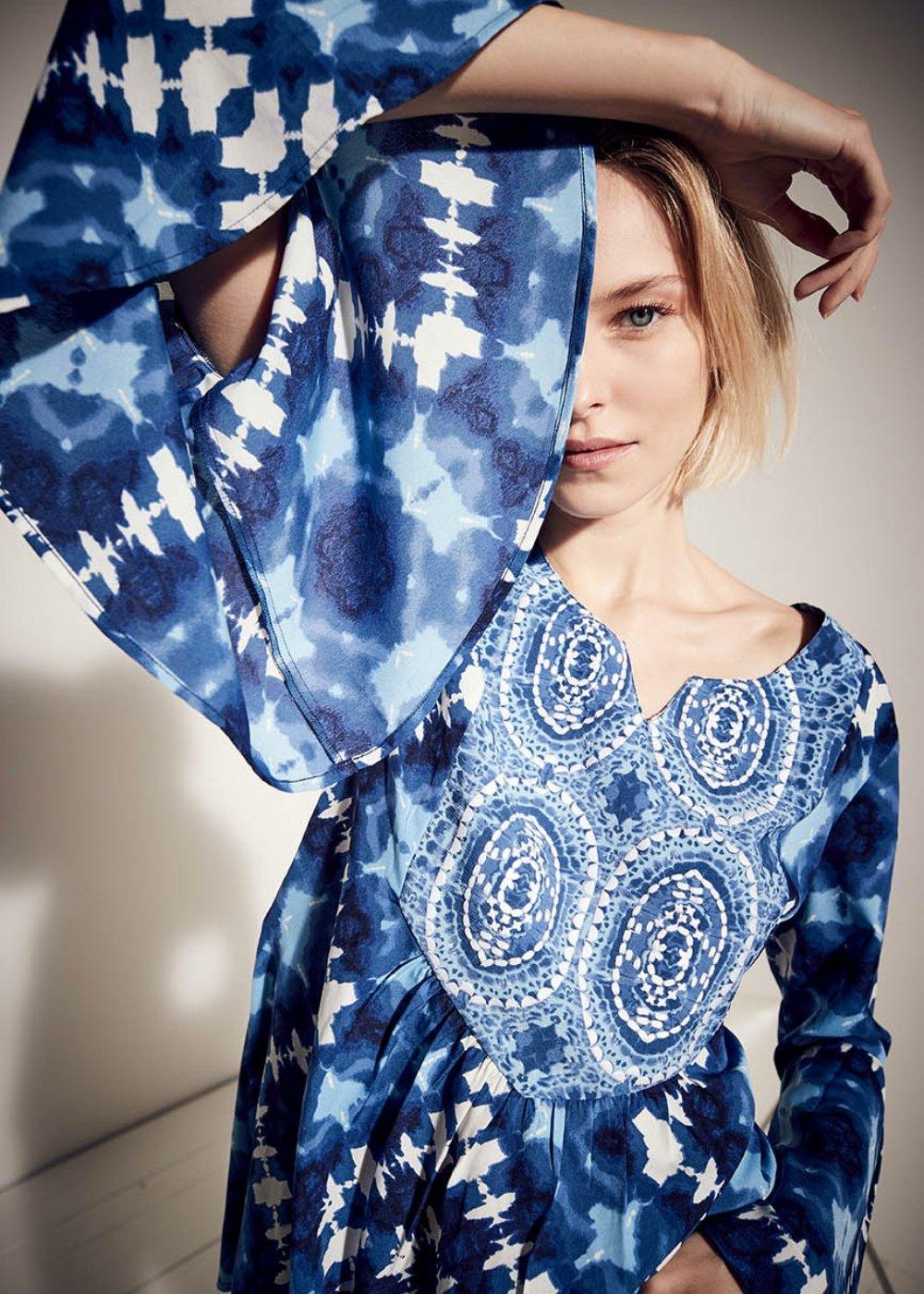 Cleo tie-dye blouse - Oltremare\Abisso\ Fantasia - Woman