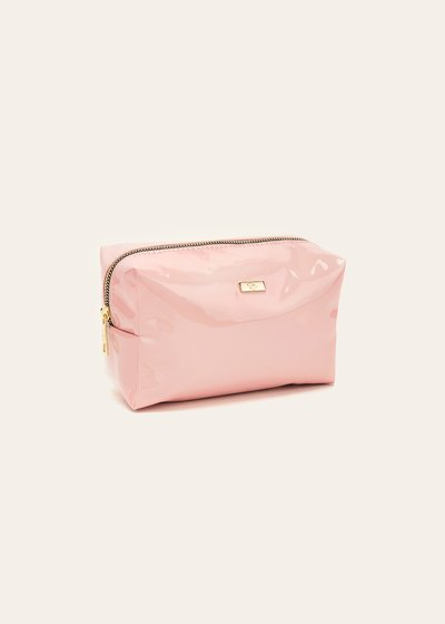 Blanc vanity case with patent-leather effect