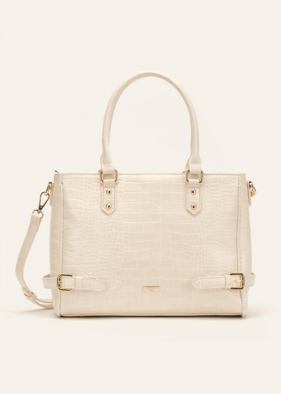 Bianca crocodile-effect shopping bag