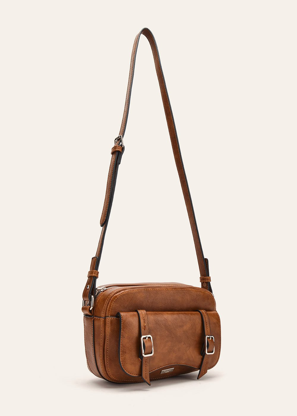 Belen shoulder bag with flap closure - Coccio	 - Woman