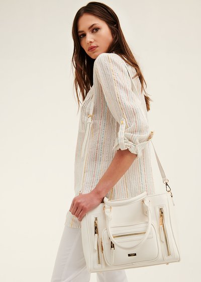 Benedetta multi-zip shopping bag