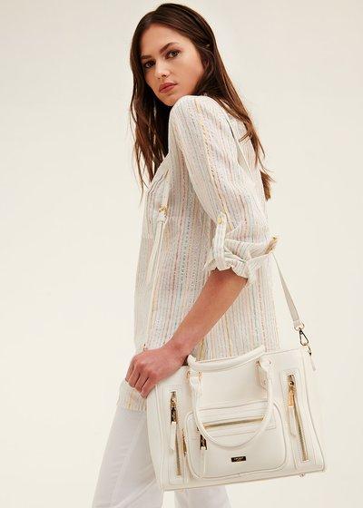 Shopping bag Benedetta multi zip