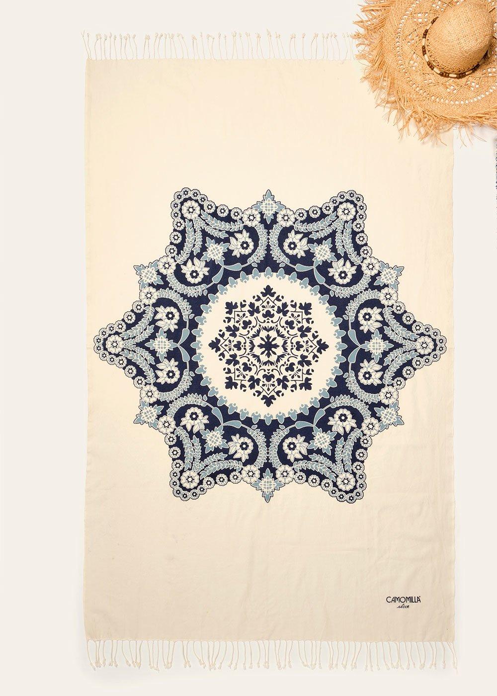 Telo mare Tyl in cotone - Medium Blue - Donna