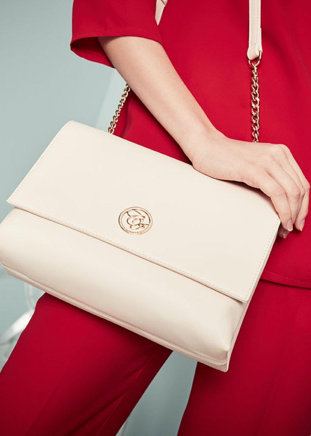 Brande faux-leather clutch bag - Mousse - Woman