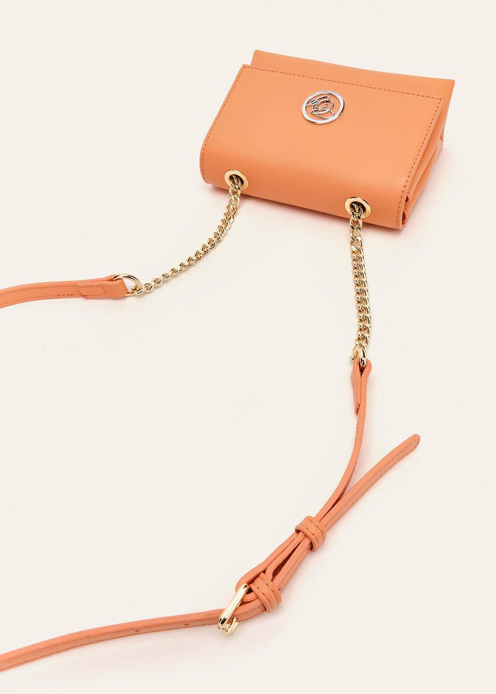 Bryana faux-leather clutch bag - Melon - Woman