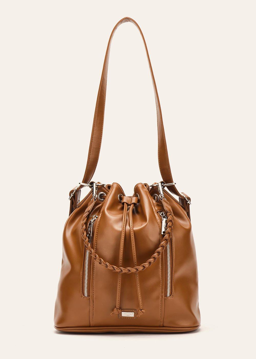 Blaky bucket bag with zipper - Pecan - Woman