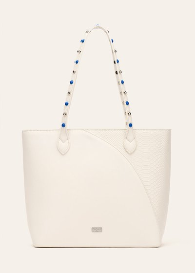 Shopping bag Bradley con manico decorato