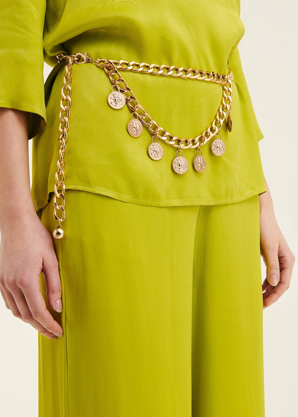 Calley belt with metal chain - Woman