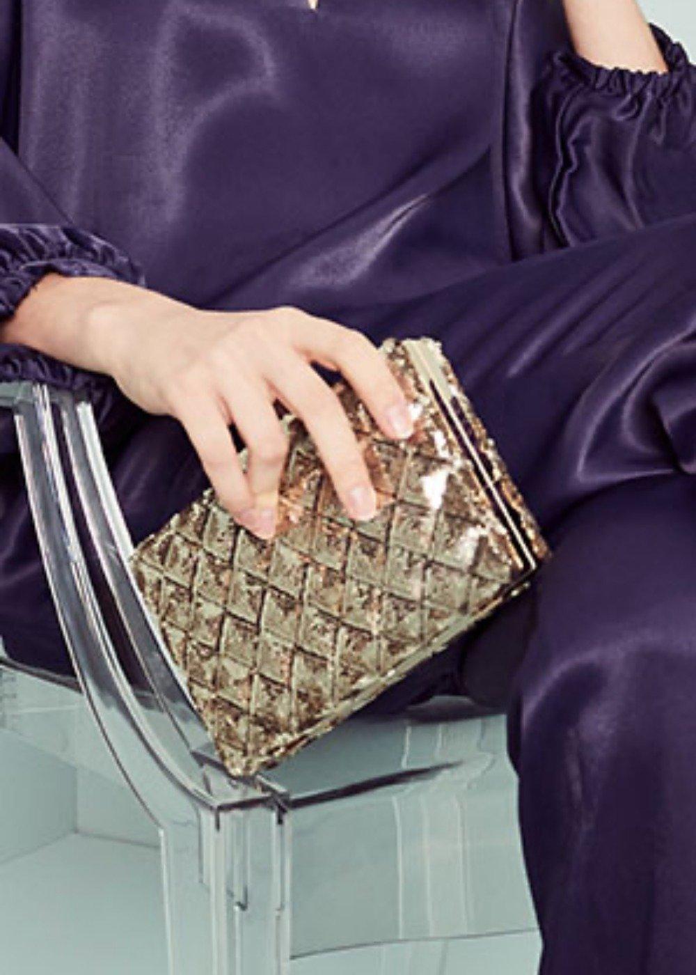 Bixy rigid clutch bag - Gold - Woman