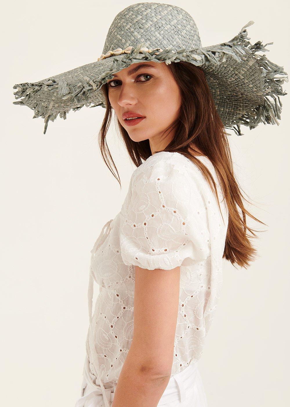 Cappello Catryn con decoro di conchiglie - Sasso /Brezza - Donna
