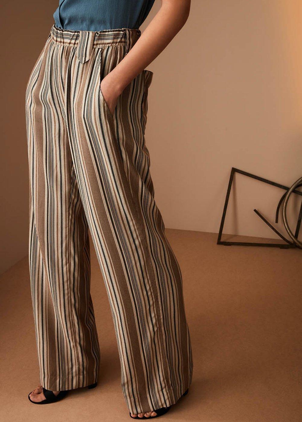 Peter palazzo trousers - Safari / Taupe Fantasia - Woman