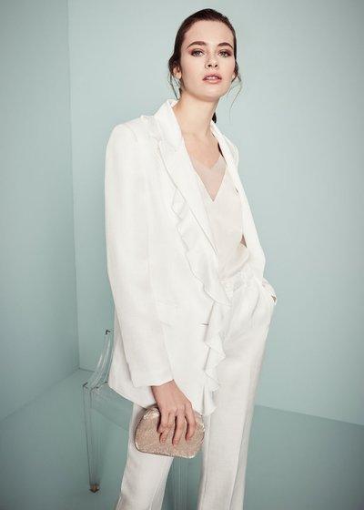 Giasmine jacket with ruffles