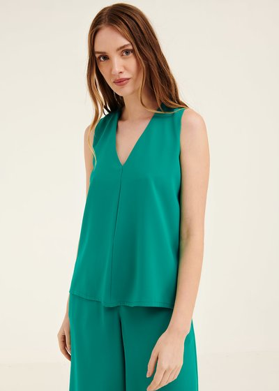 Ashley top with pleat