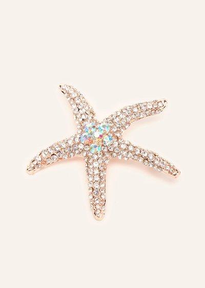 Stars brooch with aurora borealis rhinestones
