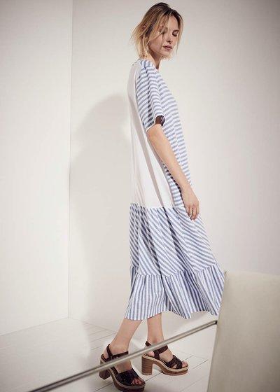 Ashley linen-blend dress