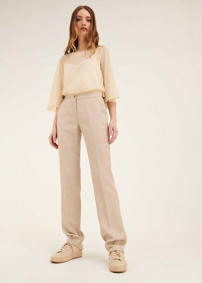 Pantalone Alice in lino e viscosa