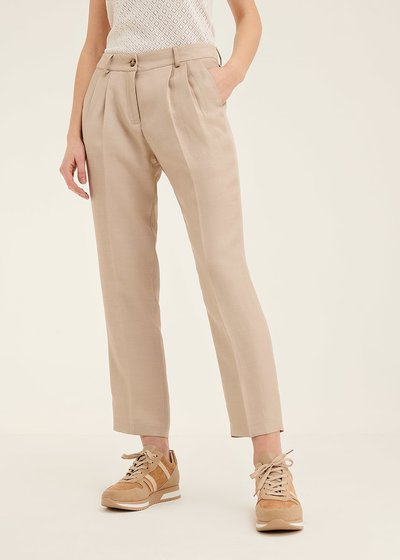Gigi viscose trousers with darts