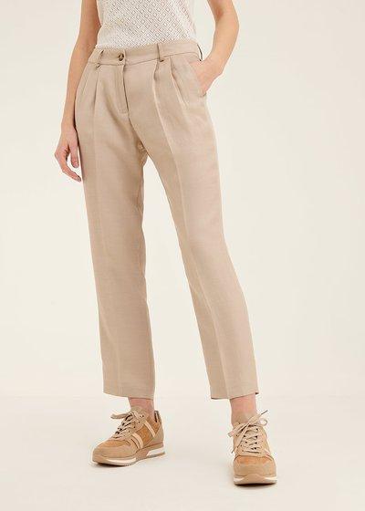 Pantalone Gigi in viscosa con pinces