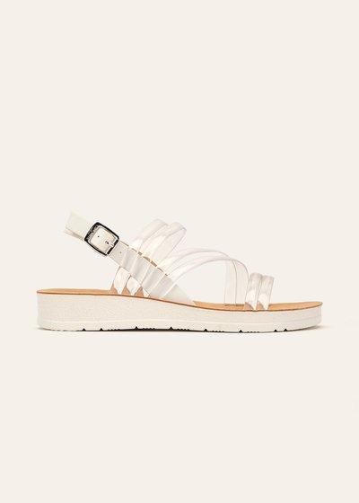 Steyla beach sandal with vinyl bands