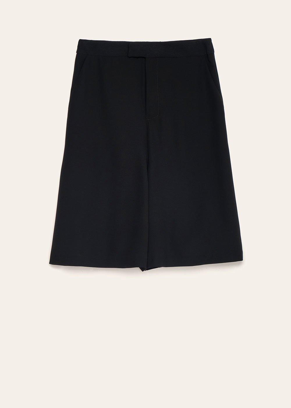 Ashley wide-leg bermuda shorts - Black - Woman