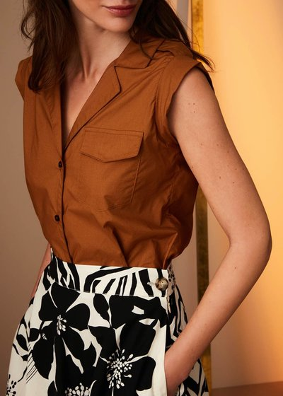 Camicia Lara giro manica in cotone