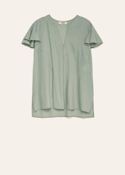 Blusa Carla con maniche rouches