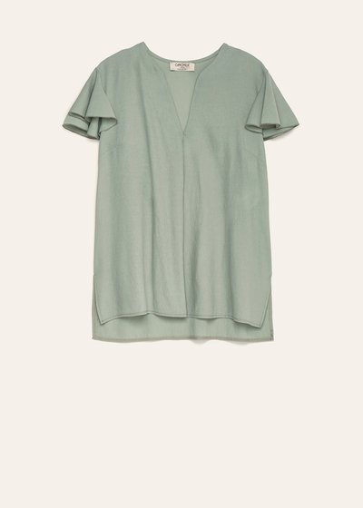Carla blouse with ruffled sleeves