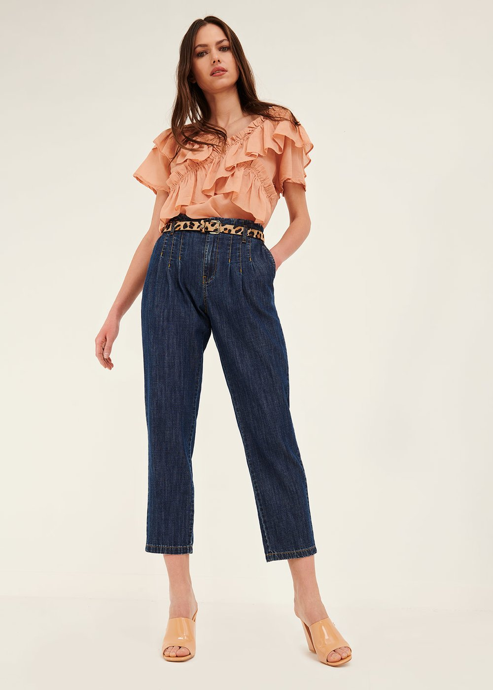 Dorys denims with topstitching - Light Blue - Woman
